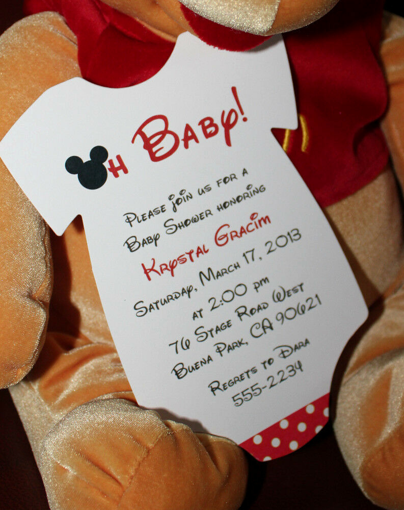 Mickey Mouse Baby Shower Invitation Fresh Mickey Mouse Esie Baby Shower Invitation All Wording