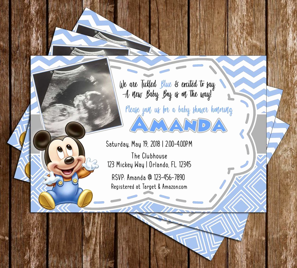 Mickey Mouse Baby Shower Invitation Inspirational Novel Concept Designs Baby Mickey Mouse Ultrasound