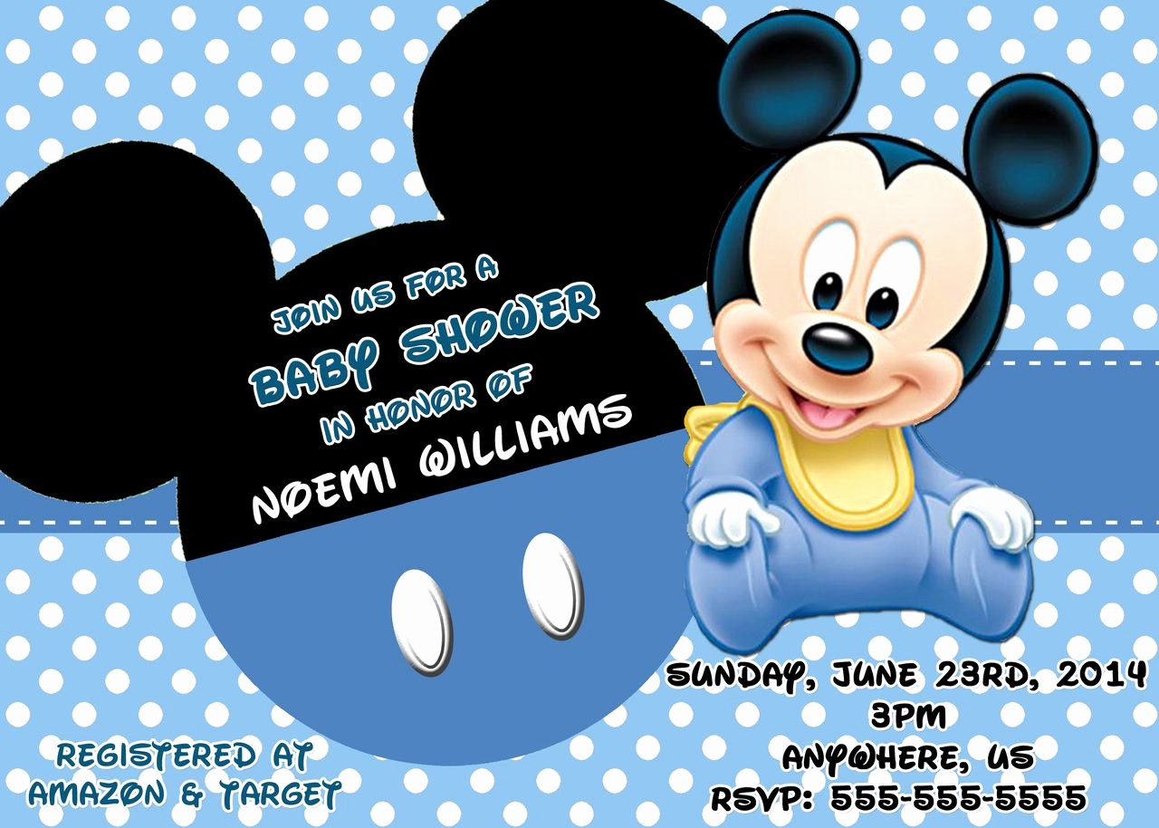 Mickey Mouse Baby Shower Invitation Lovely Mickey Mouse Baby Shower Invitations 3 Hd Wallpapers