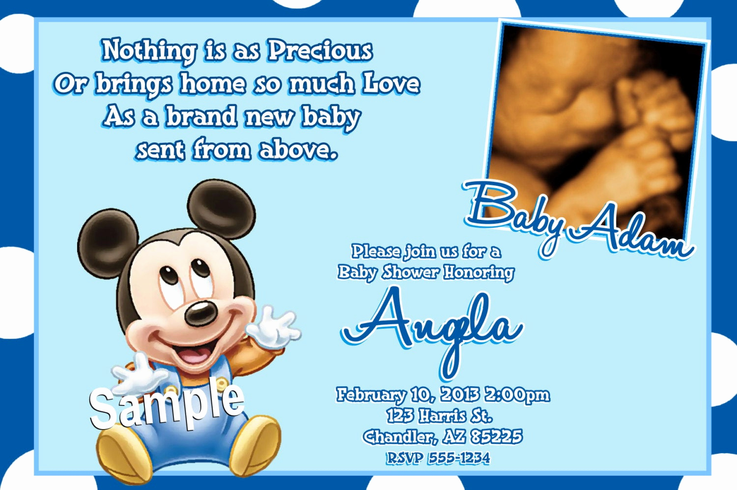 Mickey Mouse Baby Shower Invitation New Mickey Mouse Baby Shower Invitations Baby Mickey Mouse Baby