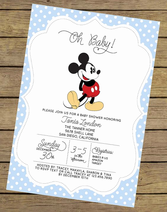 Mickey Mouse Baby Shower Invitation New Mickey Mouse Baby Shower Invitations for Boys Party Xyz