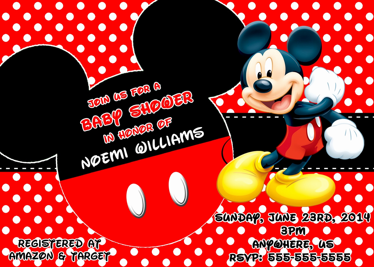 Mickey Mouse Baby Shower Invitation Unique Mickey Mouse Baby Shower Invitations Partyexpressinvitations