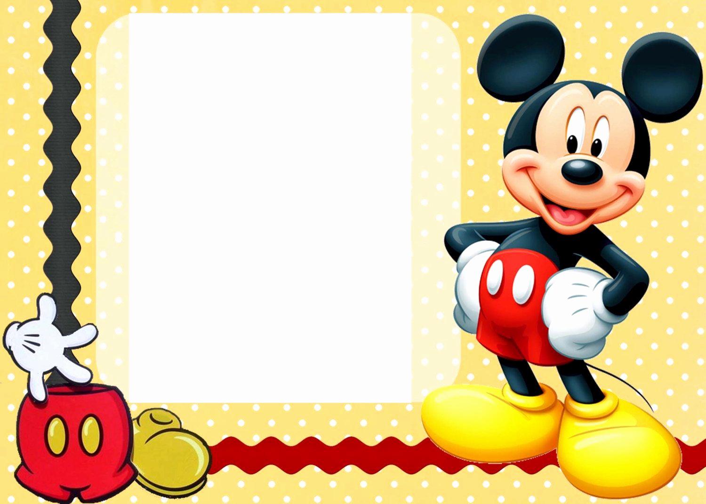 Mickey Mouse Birthday Invitation Inspirational 25 Incredible Mickey Mouse Birthday Invitations