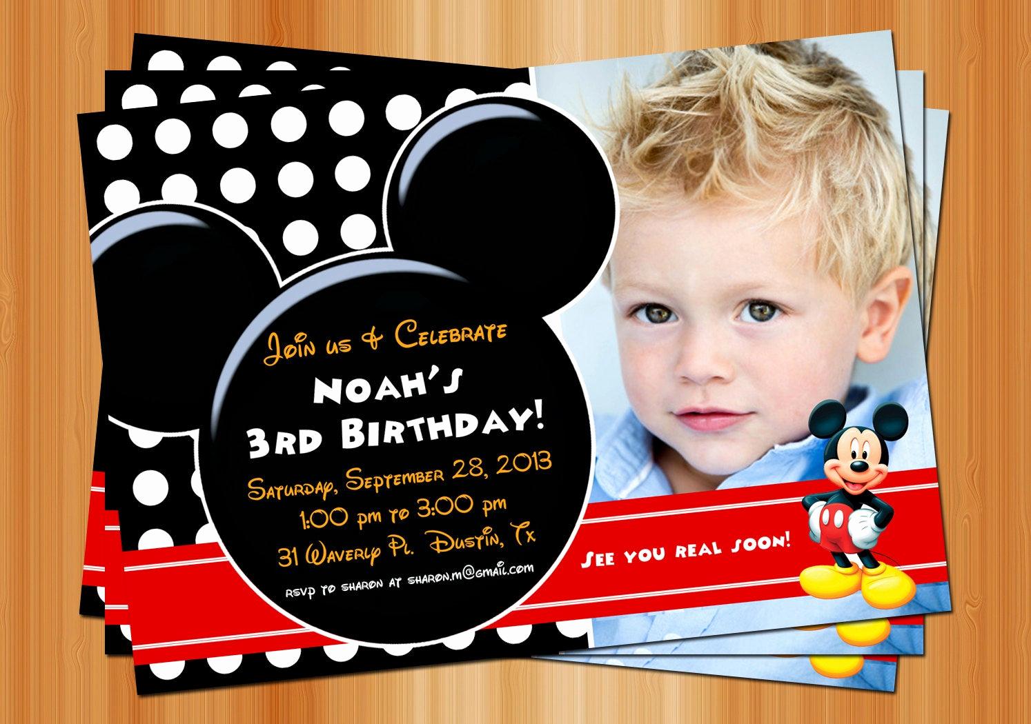 Mickey Mouse Birthday Invitation Lovely Mickey Mouse Birthday Invitation Printable Birthday Party