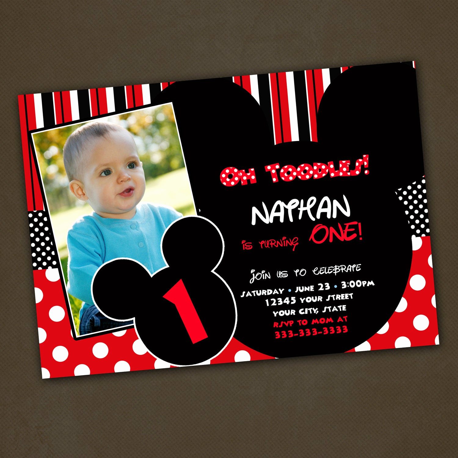 Mickey Mouse Birthday Invitation Lovely Unavailable Listing On Etsy