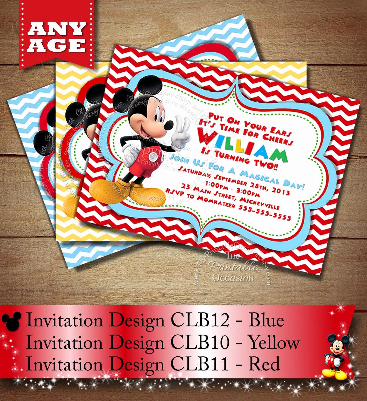 Mickey Mouse Birthday Invitation New Huge Selection Mickey Mouse Birthday Invitation Babys Second