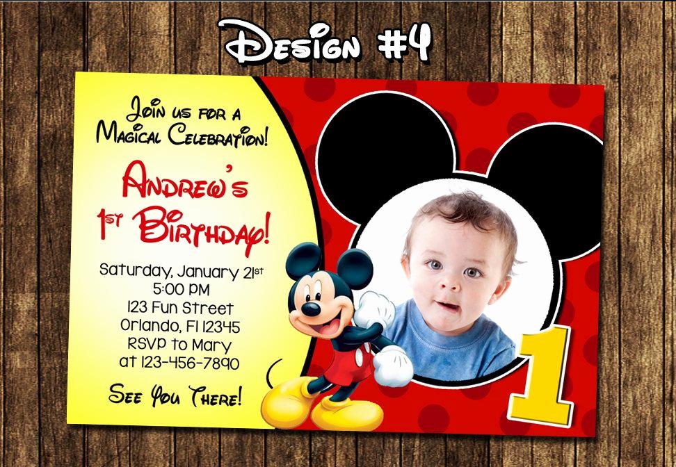 Mickey Mouse Birthday Invitation Unique Best Create Own Mickey Mouse 1st Birthday Invitations Free
