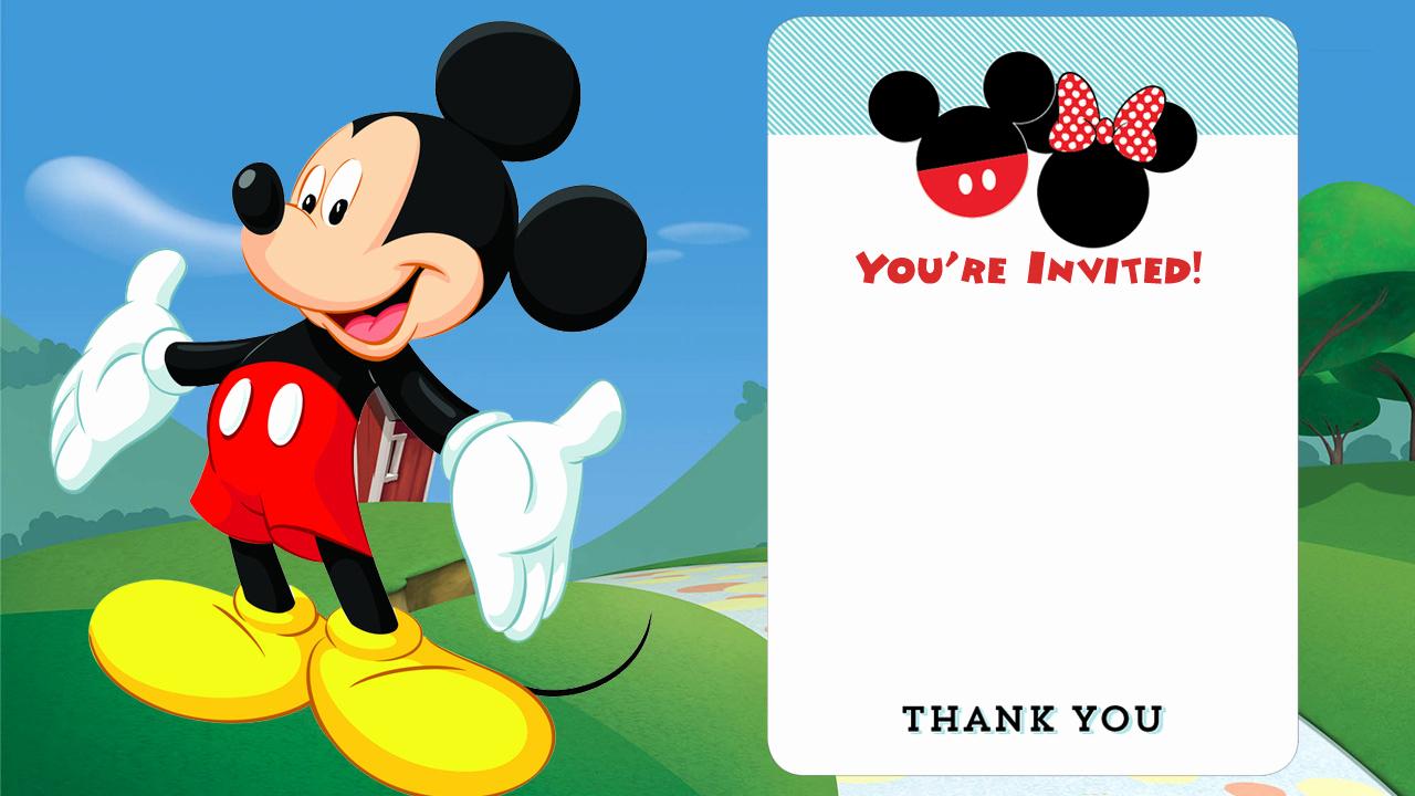 Mickey Mouse Birthday Invitation Unique Free Disney Printable Birthday Invitations Downloadable