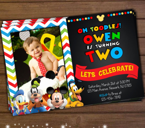 Mickey Mouse Club House Invitation Beautiful 31 Mickey Mouse Invitation Templates Free Sample