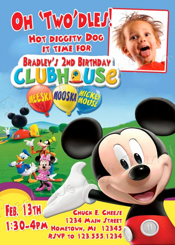Mickey Mouse Club House Invitation Beautiful Exclusive Mickey Mouse Clubhouse Birthday Invitations