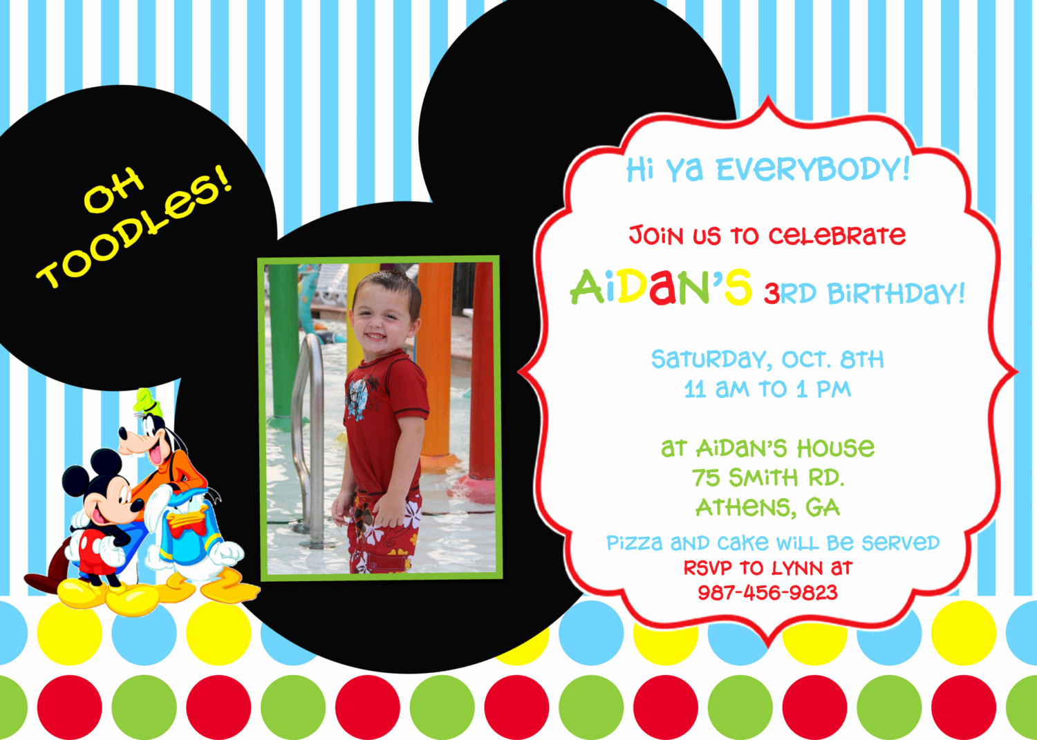 Mickey Mouse Club House Invitation Beautiful Mickey Mouse Clubhouse Birthday Party Invitation
