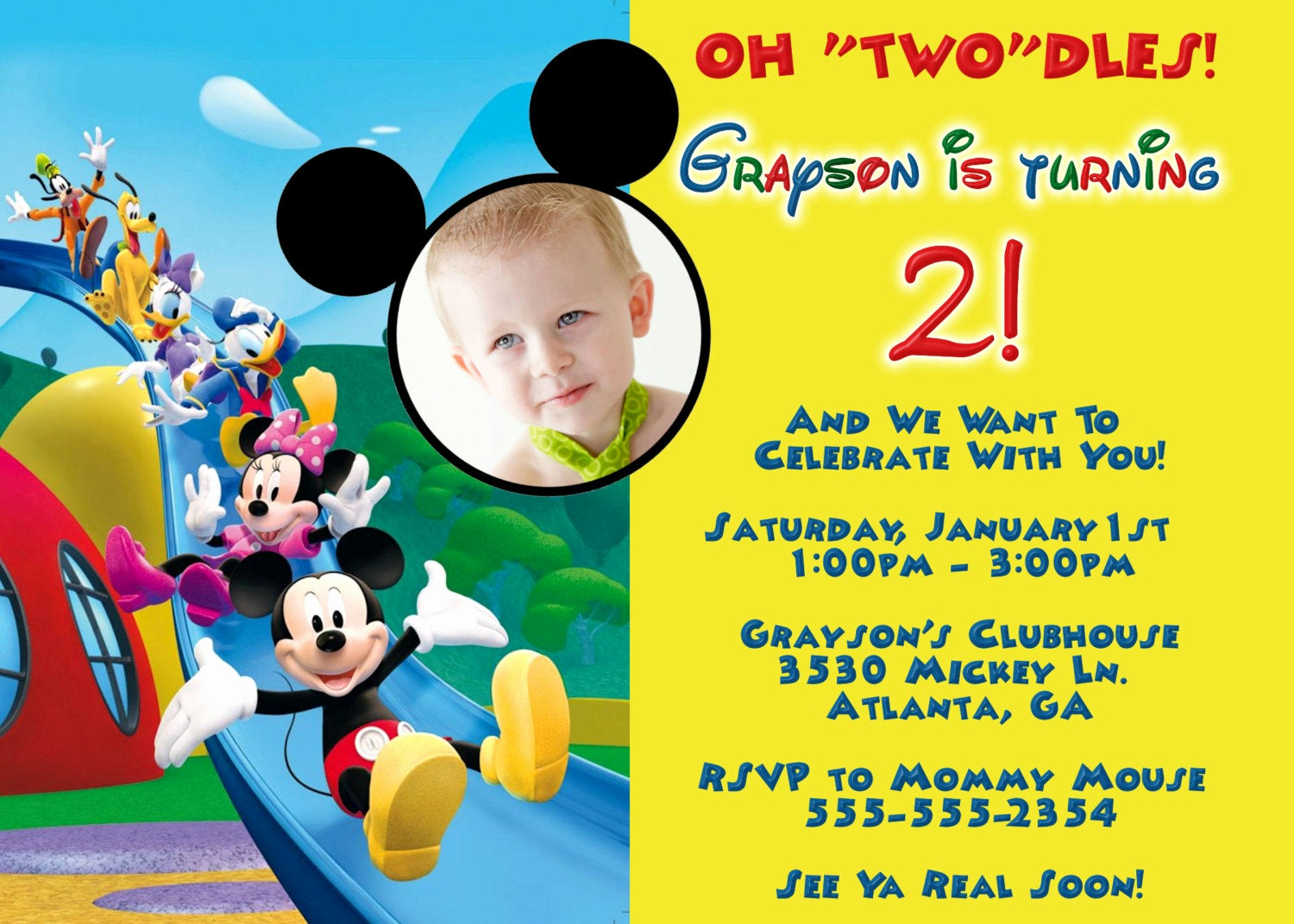 Mickey Mouse Club House Invitation Best Of Mickey Mouse Clubhouse Digital Invitation by Preciouspixel