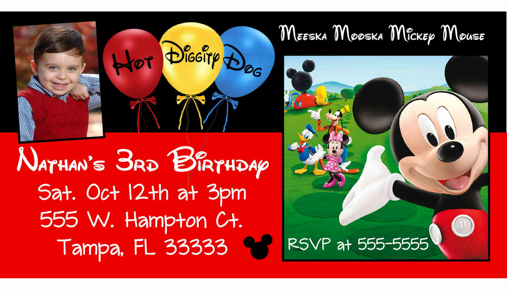 Mickey Mouse Club House Invitation Elegant 10 Magnetic Mickey Mouse Clubhouse Birthday Invitations