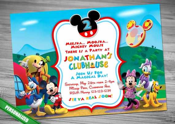 Mickey Mouse Club House Invitation Elegant Mickey Mouse Clubhouse Invitation Mickey Invitation Mickey