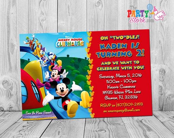 Mickey Mouse Club House Invitation Elegant Mickey Mouse Clubhouse Invitations Printable Personalized