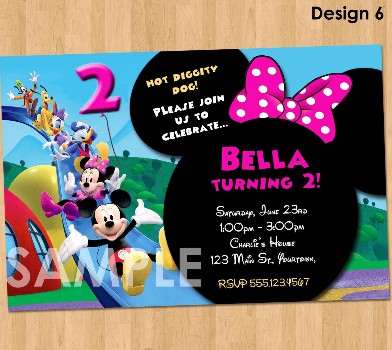 Mickey Mouse Club House Invitation Elegant Minnie Mickey Mouse Clubhouse Invitation Printable Birthday