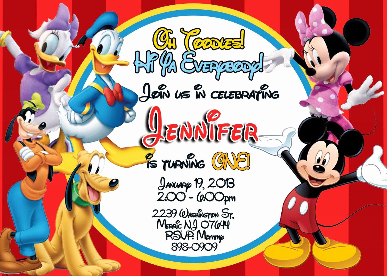 Mickey Mouse Club House Invitation Fresh Exclusive Mickey Mouse Clubhouse Birthday Invitations