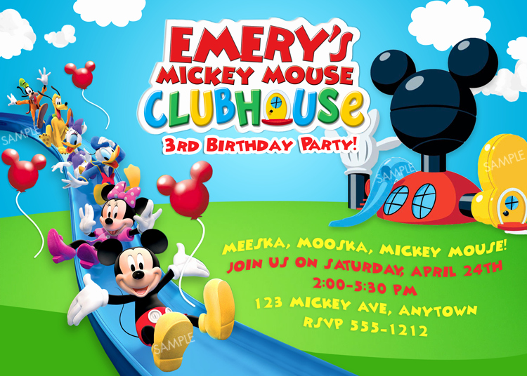 Mickey Mouse Club House Invitation Inspirational Mickey Mouse Clubhouse Birthday Invitations Free