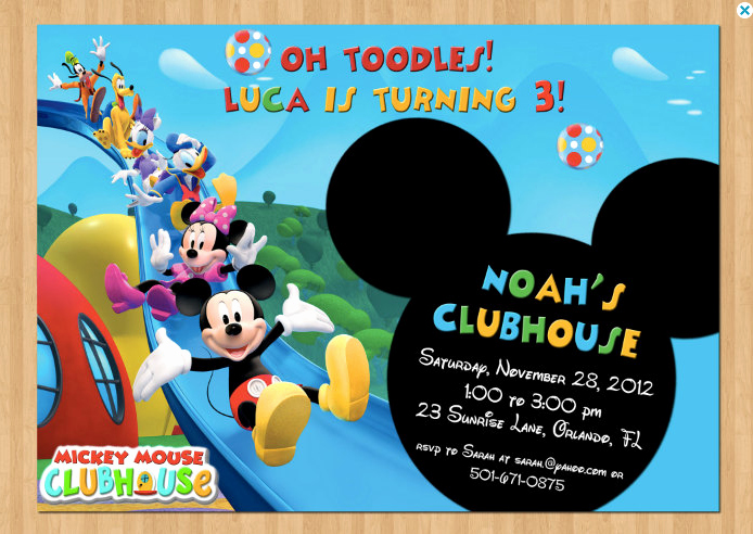 Mickey Mouse Club House Invitation Luxury Mickey Mouse Clubhouse Invitations for Special Birthday