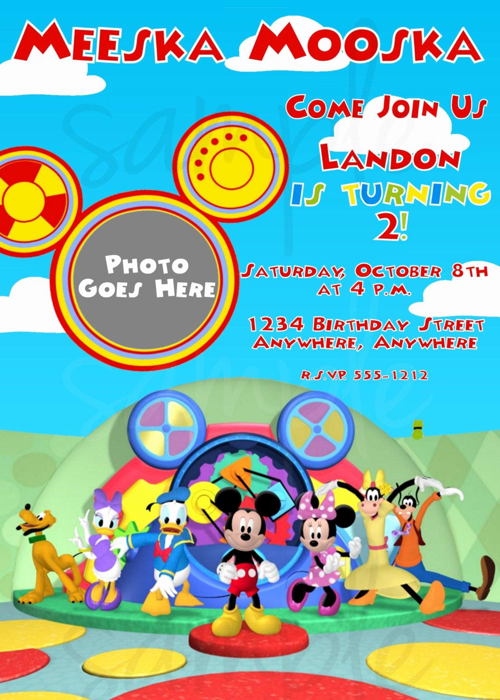 Mickey Mouse Club House Invitation New Mickey Mouse Clubhouse Birthday Invitation