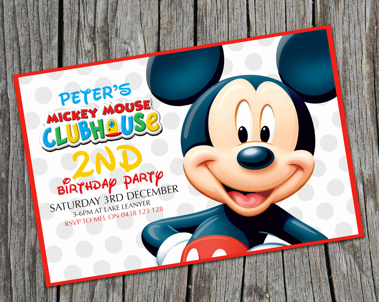 Mickey Mouse Club House Invitation Unique Kids Birthday Invitation Mickey Mouse Clubhouse Modern