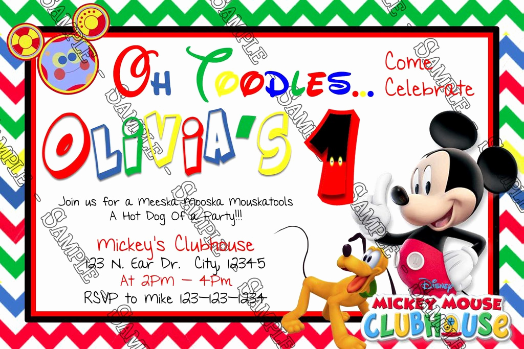 Mickey Mouse Club House Invitation Unique Novel Concept Designs Disney Mickey Mouse Clubhouse