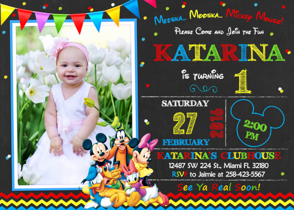 Mickey Mouse Clubhouse Invitation Awesome 8 Mickey Mouse Birthday Invitation Designs & Templates