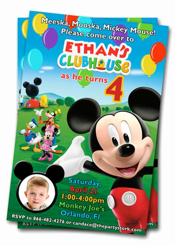 Mickey Mouse Clubhouse Invitation Beautiful Mickey Mouse Clubhouse Birthday Invitations Printable Mickey