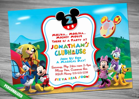 Mickey Mouse Clubhouse Invitation Beautiful Mickey Mouse Clubhouse Invitation Mickey Invitation Mickey