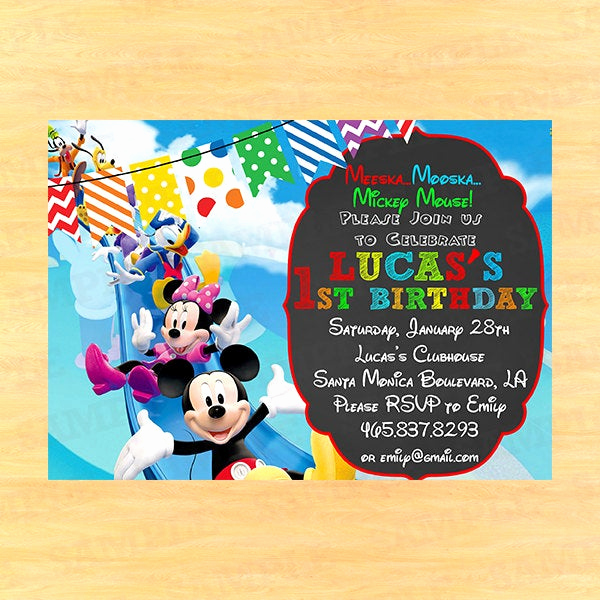 Mickey Mouse Clubhouse Invitation Beautiful Mickey Mouse Clubhouse Invitation Wording Mickey Mouse