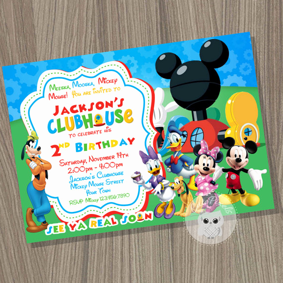 Mickey Mouse Clubhouse Invitation Best Of Mickey Mouse Clubhouse Invitation Mickey Mouse Birthday