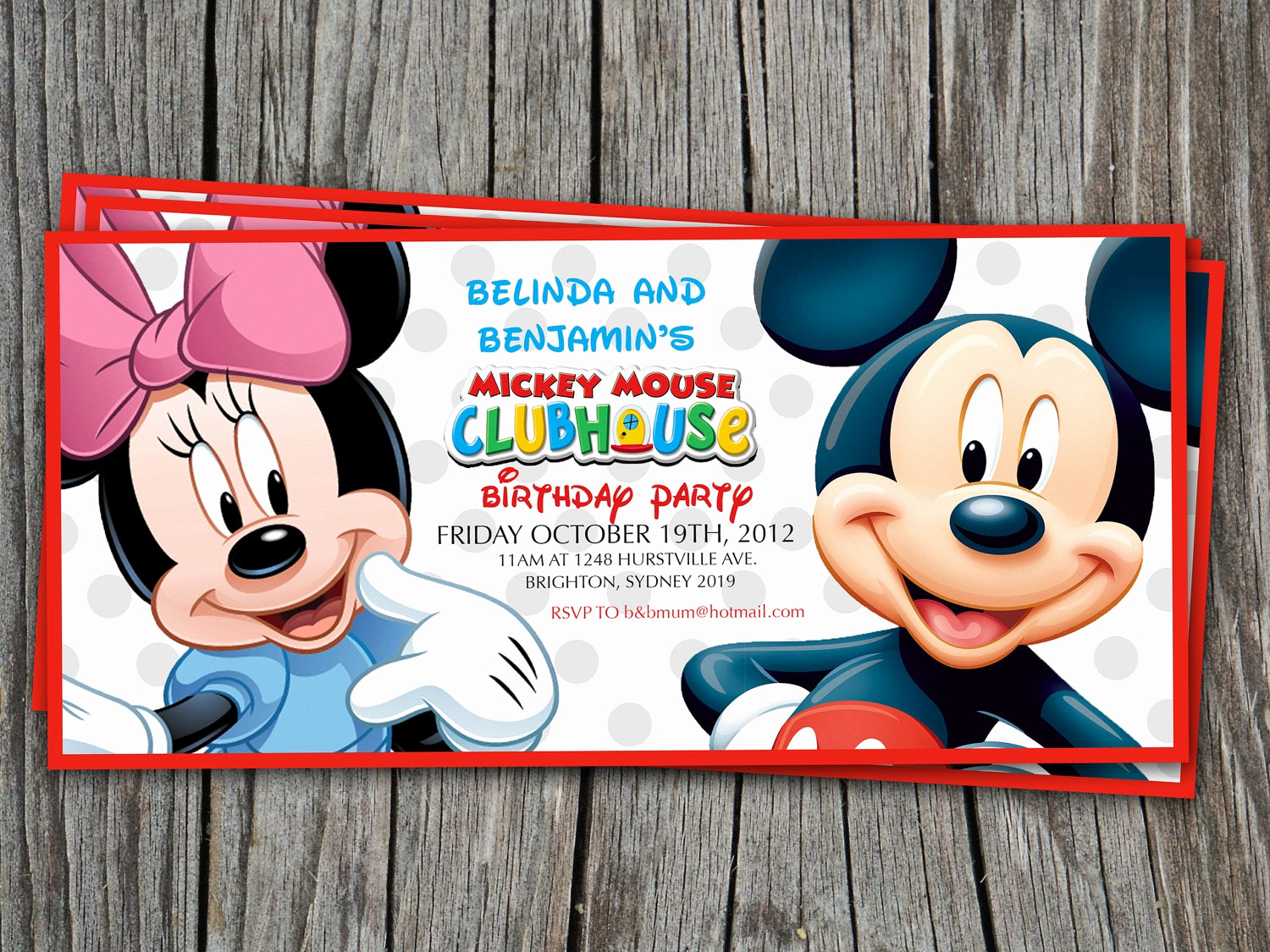Mickey Mouse Clubhouse Invitation Best Of Twins Birthday Invitation Mickey Mouse Clubhouse Modern