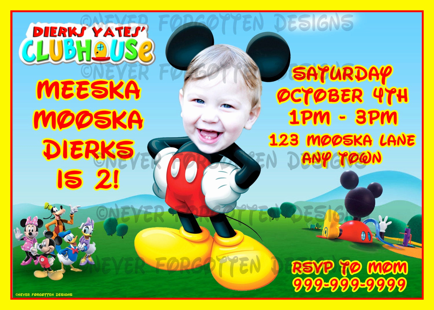 Mickey Mouse Clubhouse Invitation Inspirational Unavailable Listing On Etsy
