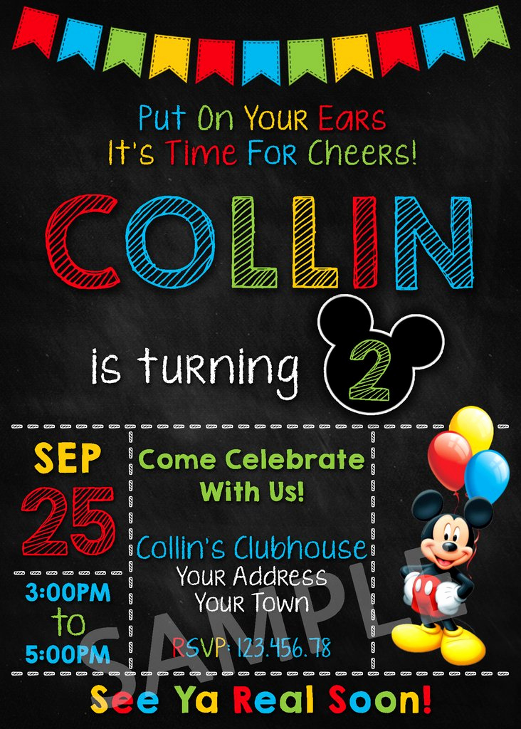 Mickey Mouse Clubhouse Invitation Lovely Mickey Mouse Party Invitation Mickey Mouse Invitation
