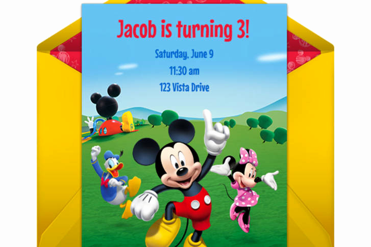 Mickey Mouse Clubhouse Invitation Template Awesome Mickey Mouse Clubhouse Party Line Invitation