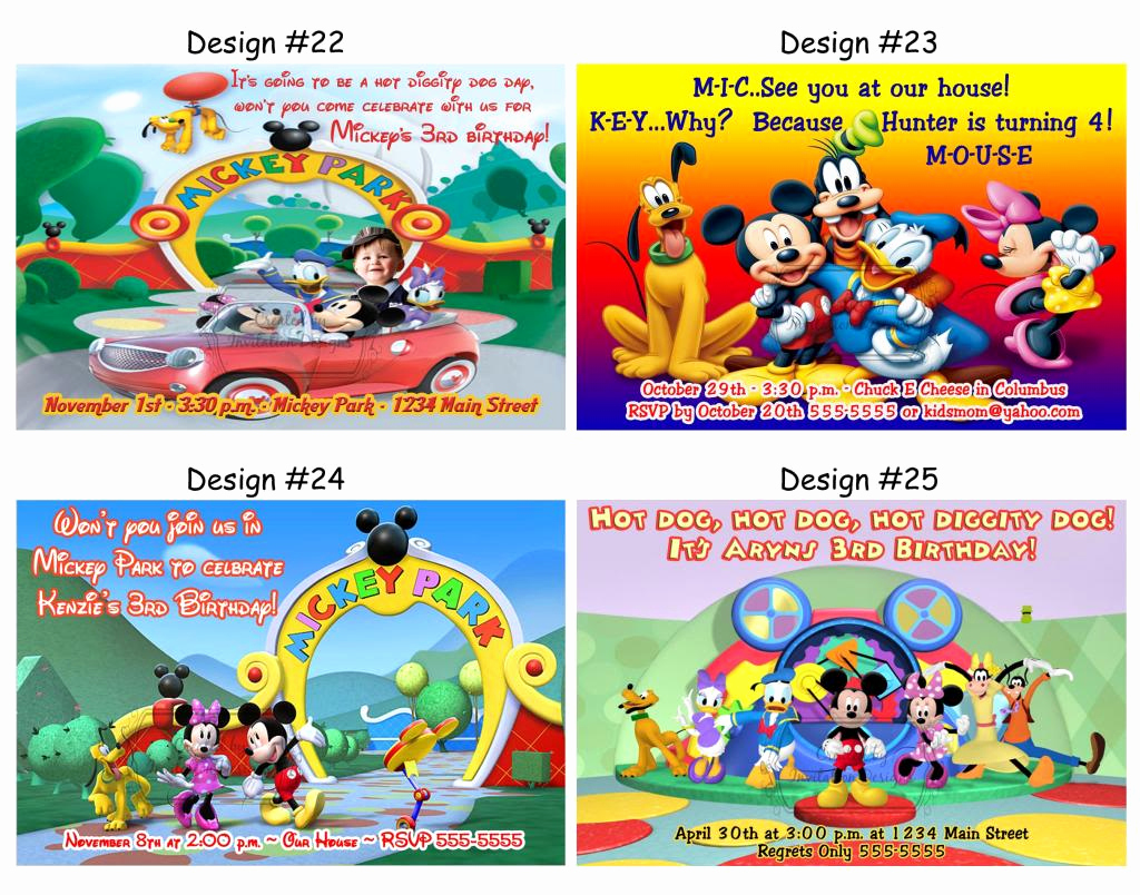 Mickey Mouse Clubhouse Invitation Template Awesome Mickey Mouse Clubhouse Ticket Invitations