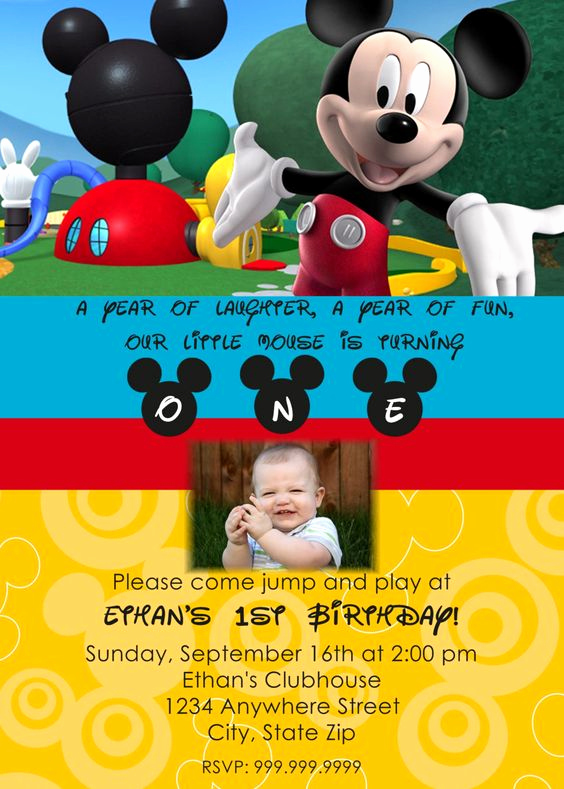 Mickey Mouse Clubhouse Invitation Template Beautiful Mickey Mouse Clubhouse Birthdays and Mice On Pinterest