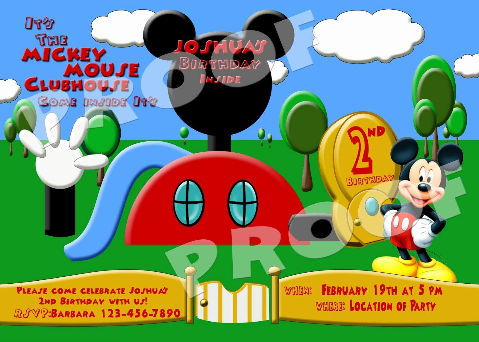 Mickey Mouse Clubhouse Invitation Template Best Of Mickey Mouse Clubhouse Ticket Invitations Free Template