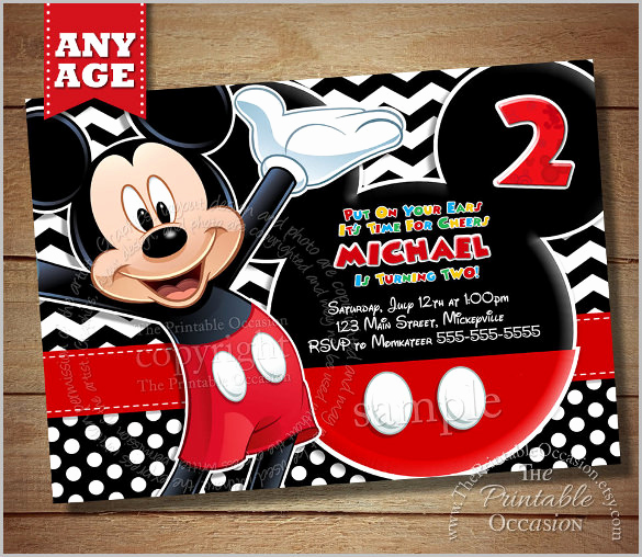 Mickey Mouse Clubhouse Invitation Template Best Of Mickey Mouse Invitation Templates – 26 Free Psd Vector