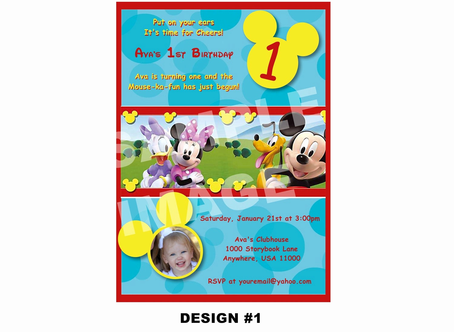 Mickey Mouse Clubhouse Invitation Template Elegant Items Similar to Mickey Mouse Clubhouse Invitation