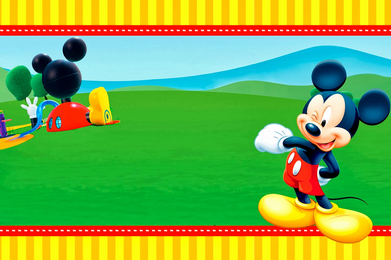 Mickey Mouse Clubhouse Invitation Template Elegant Mickey Clubhouse Invitations and Party Free Printables