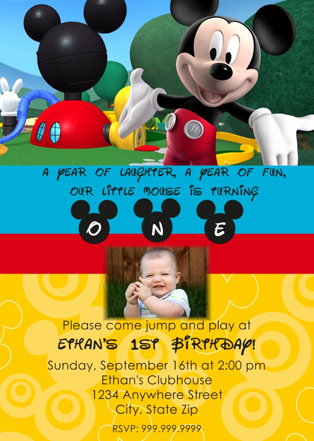 Mickey Mouse Clubhouse Invitation Template Elegant Mickey Mouse Clubhouse Printable Invitations Template