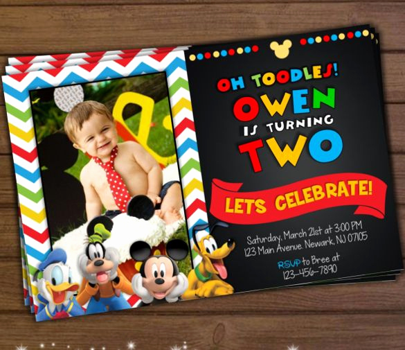 Mickey Mouse Clubhouse Invitation Template Fresh Mickey Mouse Invitation Template 23 Free Psd Vector