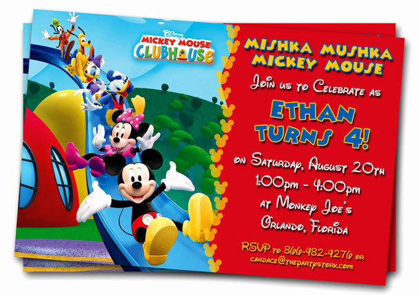 Mickey Mouse Clubhouse Invitation Template Inspirational Free Mickey Mouse Clubhouse 1st Birthday Invitations