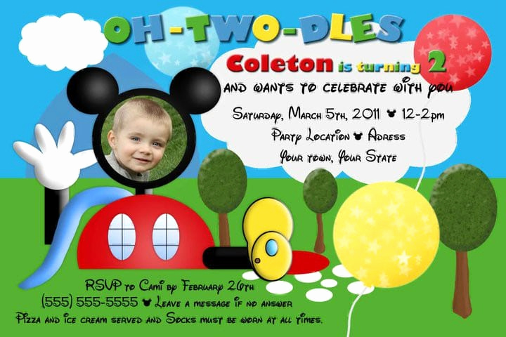 Mickey Mouse Clubhouse Invitation Template New Mickey Mouse Clubhouse Invite Template