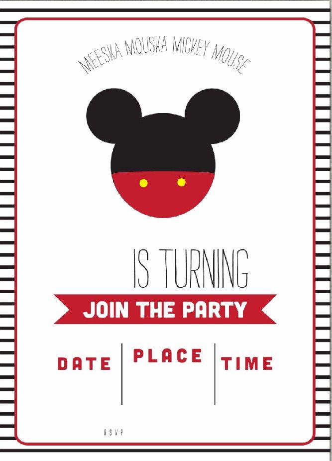Mickey Mouse Clubhouse Invitation Template Unique Get Free Template Free Simple Mickey Mouse Head Invitation