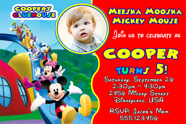 Mickey Mouse Clubhouse Invitation Template Unique Mickey Mouse Clubhouse Invitation – Mm019 — Invite