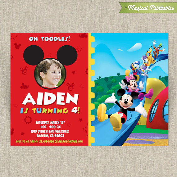 Mickey Mouse Clubhouse Invitation Templates Awesome Disney Mickey Mouse Clubhouse Customizable Printable Party