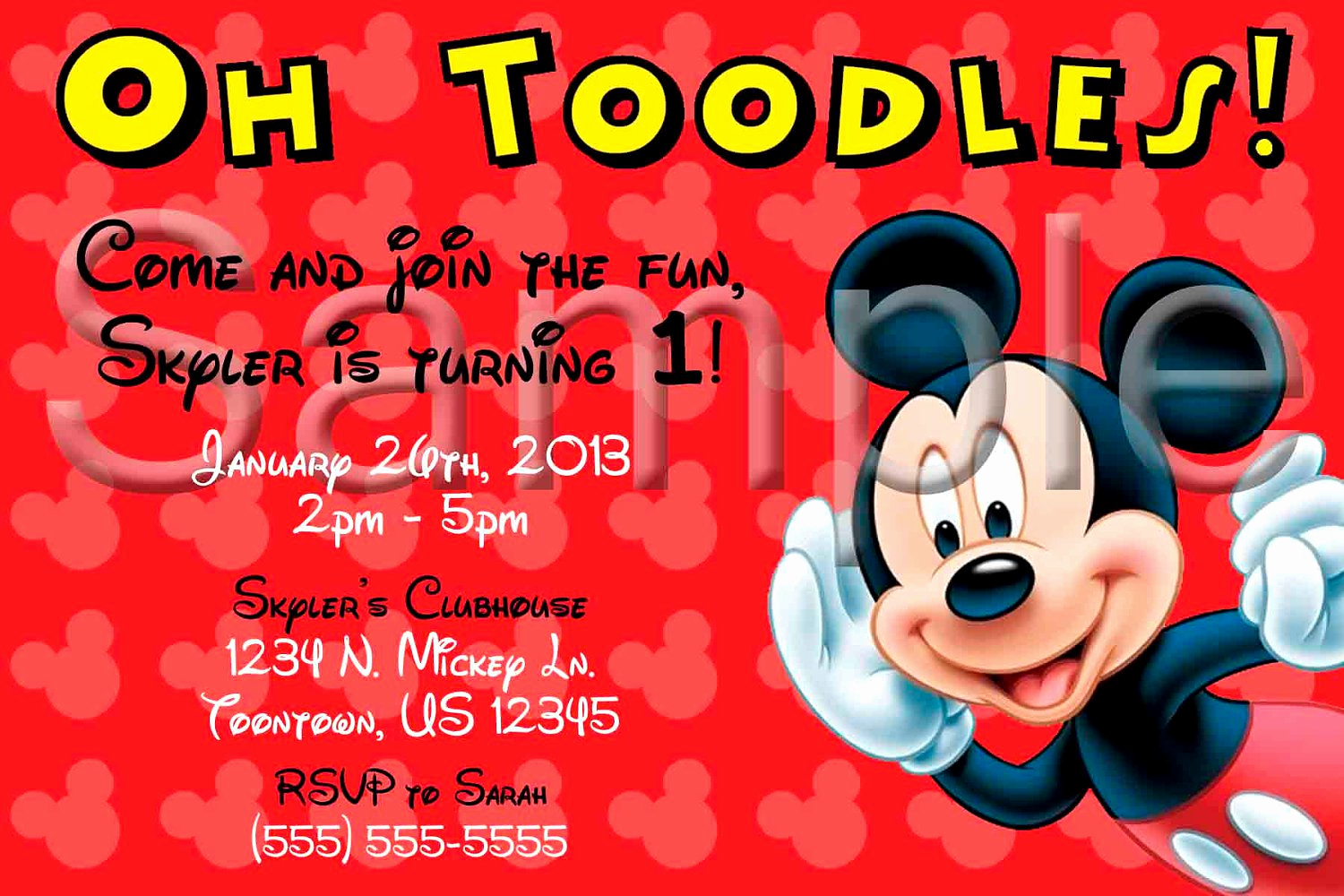 Mickey Mouse Clubhouse Invitation Templates Beautiful Mickey Mouse Clubhouse Invitation Template Free
