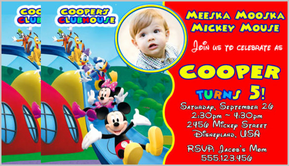 Mickey Mouse Clubhouse Invitation Templates Lovely Mickey Mouse Invitation Templates – 26 Free Psd Vector